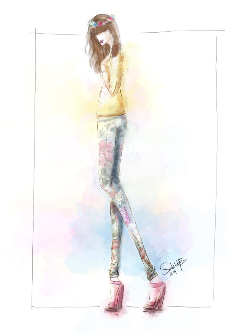 Outfit_SundayMorning_BelleMelange_FlowerCrown_Spring_Fashion_Sketch_10