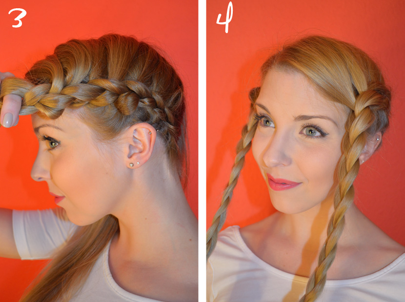 BelleMelange_Frisurentutorial-Braided-Crown_Flechtkrone-Schritt2