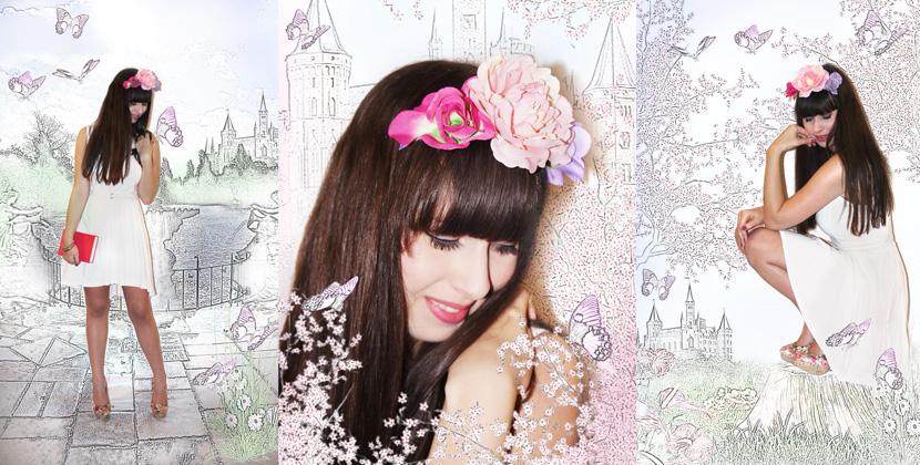 HoffnungslosVertraeumt_BelleMelange_Fashion_Sketch_Outfit_Flowercrown_Titelbild