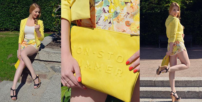 Titelbild_BelleMelange_Outfit_Non-Stop-Summer-Gelb-Shorts-Blazer