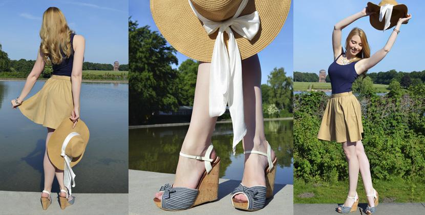 Titelbild_Outfit_BelleMelange_Morgensonne_Wedges-Strohhut