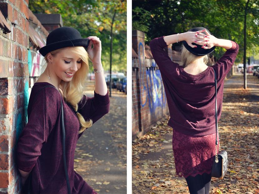 3_Blog_Belle-Melange_Fallen-Leaves_Outfit-Bordeaux_Spitze_Oversize-Pullover