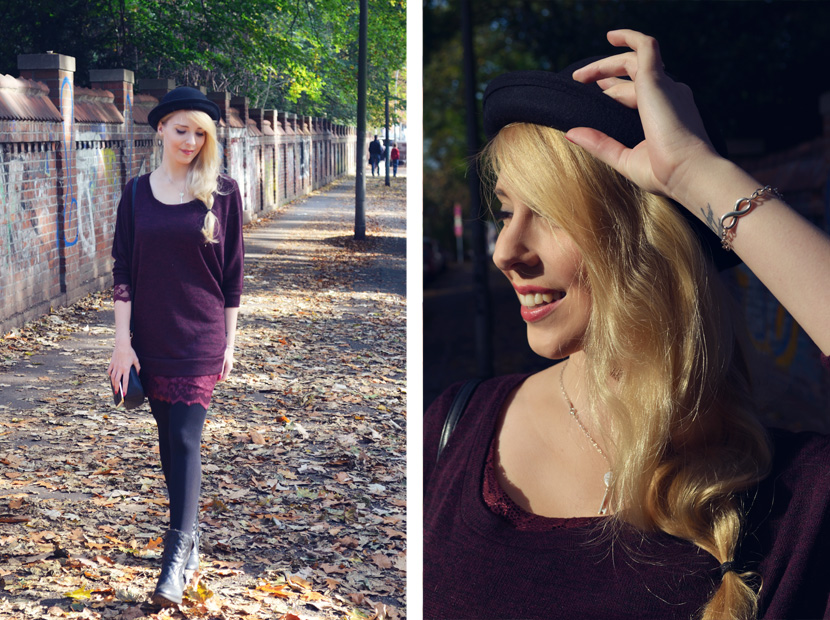 9_Blog_Belle-Melange_Fallen-Leaves_Outfit-Bordeaux_Spitze_Oversize-Pullover
