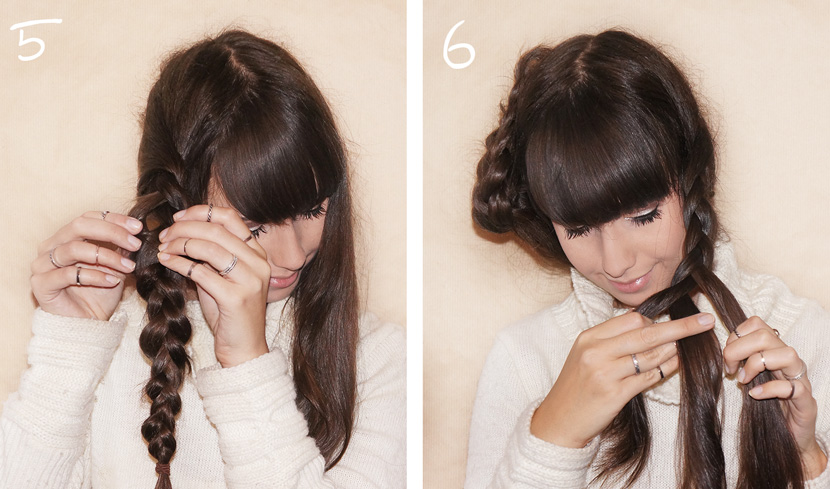 BraidedPlaits_Crown_LongHair_Tutorial_Frisur_Geflochten_Hochsteckfrisur_Updo_simple_easy_BelleMelange_03