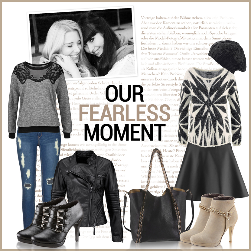 OurFearlessMoment_OttoKampagne_Selection_Collage_Fashion_Outfit_BlackWhiteRock_BelleMelange