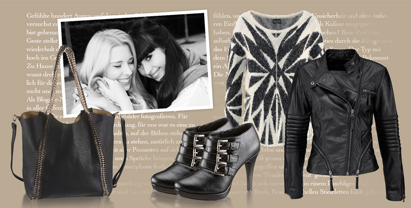 OurFearlessMoment_OttoKampagne_Selection_Collage_Fashion_Outfit_BlackWhiteRock_BelleMelange_Titelbild