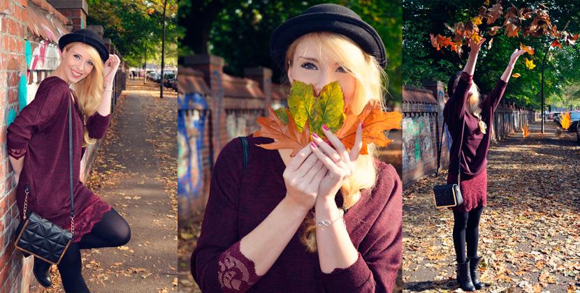 Titelbild_Blog_Belle-Melange_Fallen-Leaves_Outfit-Bordeaux_Spitze_Oversize-Pullover