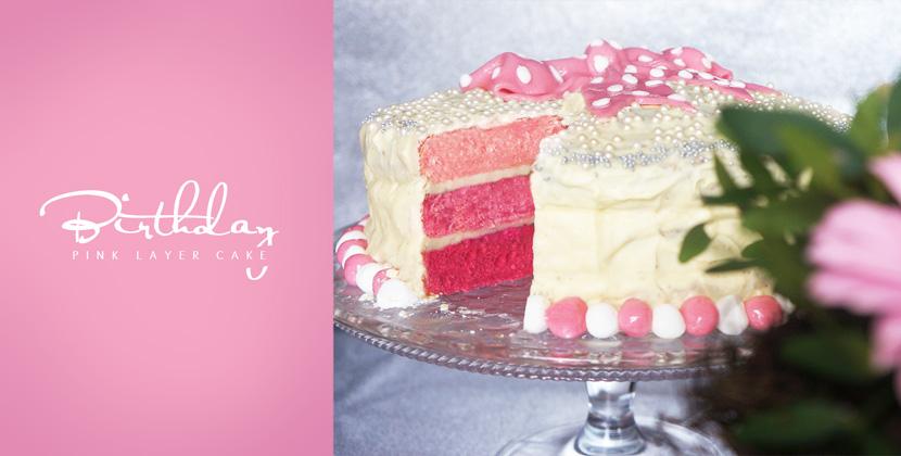 Geburtstagskuchen pink