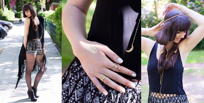 BohoVibes-BlackFringes-Outfit-Fashion-Forever24-BelleMelange-Titelbild