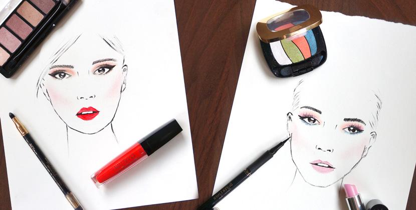 MakeUpArt_Sketch_Face_Loreal_BelleMelange_Titelbild