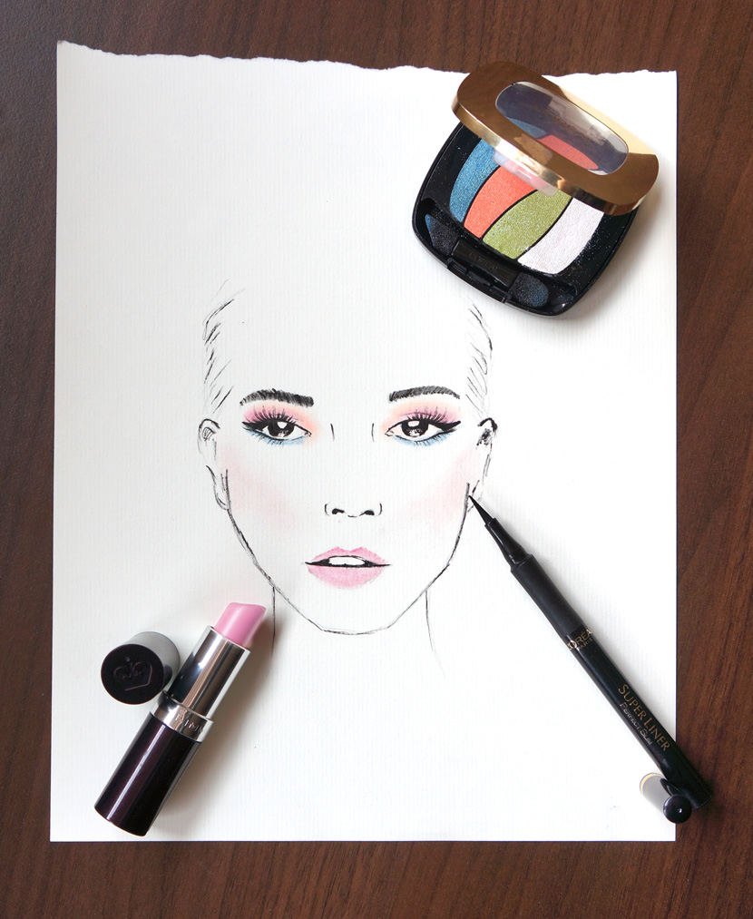MakeUpArt_Sketch_Face_Loreal_Rimmel_BelleMelange_02