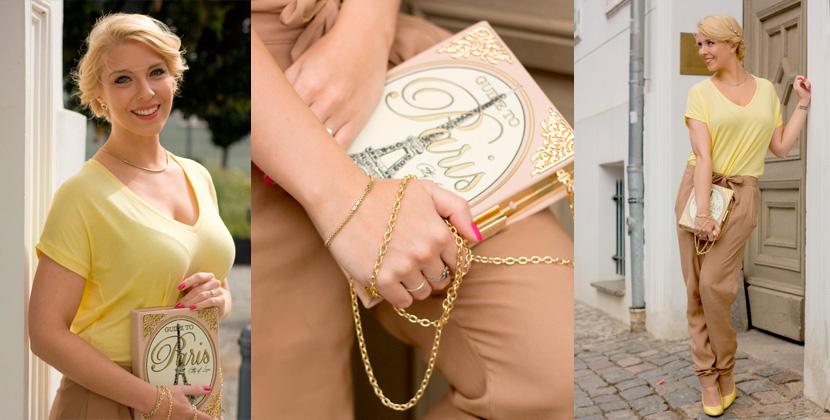 Titelbild_Little-Paris_Belle-Melange_Blog_Fashion_Outfit_Haarschmuck_besondere-Tasche_Buch_Clutch