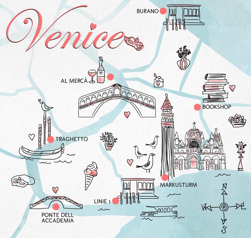 Karte-Sketch-Card-Venice-Venedig-Guide-Tipps-BelleMelange