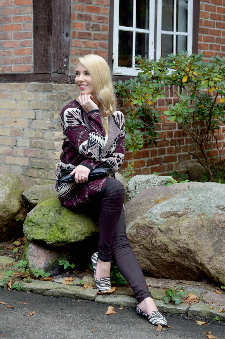 Blog_Belle-Melange_Bordeaux-Muster-Mix_Cardigan_Bershka_Herbst-2015_Look_Fashion_Outfit_1
