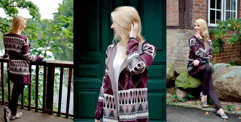 Titelbild_Blog_Belle-Melange_Bordeaux-Muster-Mix_Cardigan_Bershka_Herbst-2015_Look_Fashion_Outfit
