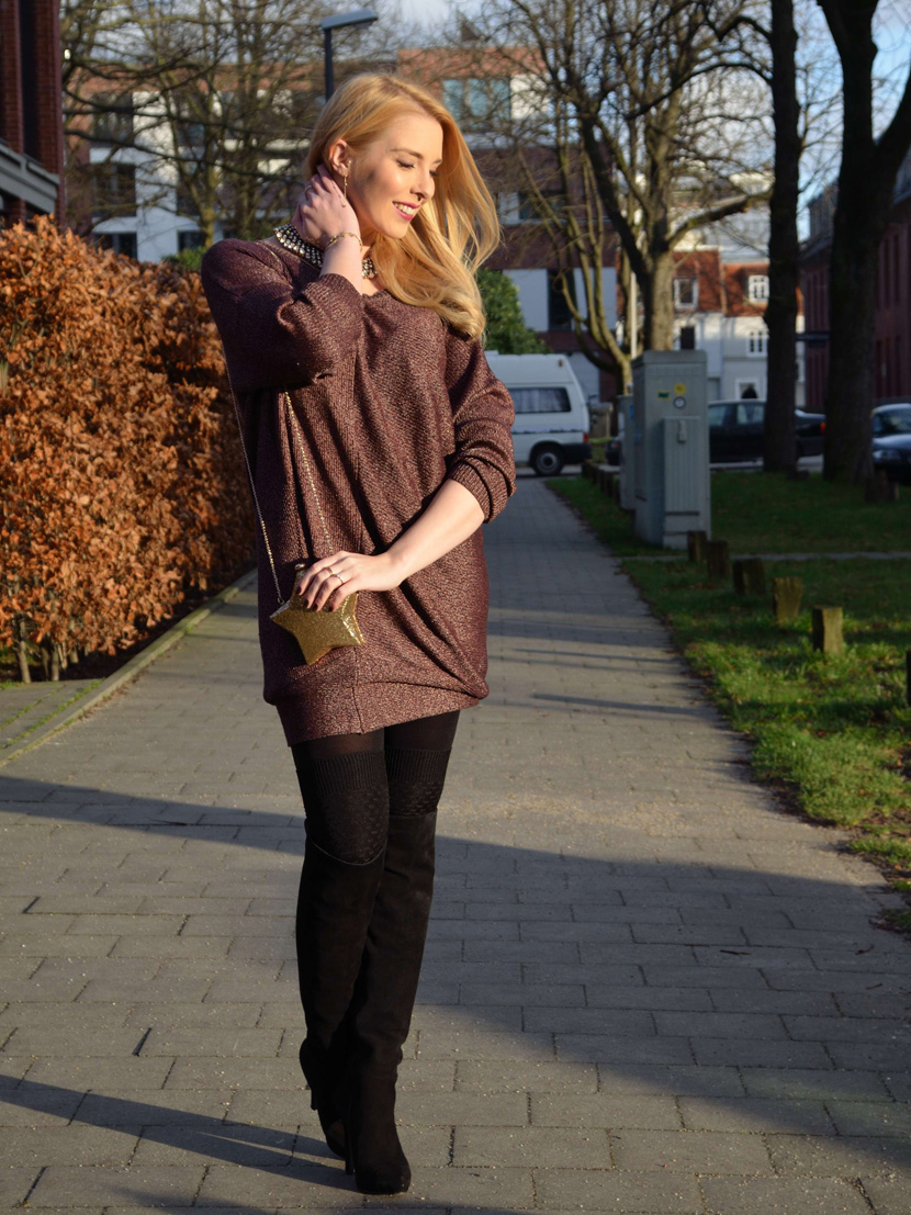 Festtagslook_Glitzer_Weihnachtsstern_Blog_Belle-Melange_Fashion_Outfit_Overknees_1