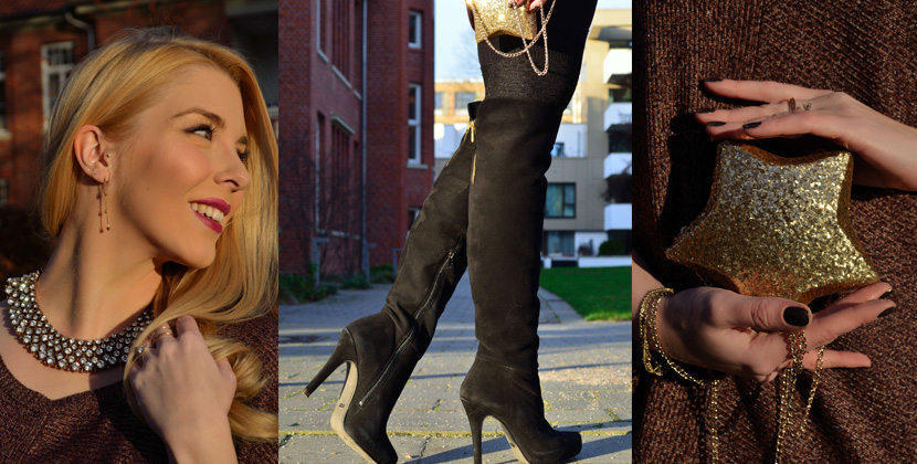Titelbild_Festtagslook_Glitzer_Weihnachtsstern_Blog_Belle-Melange_Fashion_Outfit_Overknees