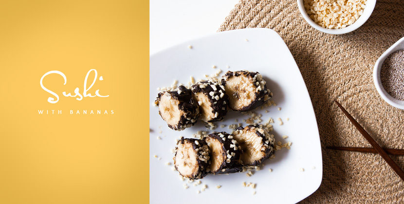 Banana-Sushi-Food-Recipe-Sweet-Dessert-BelleMelange-Titelbild